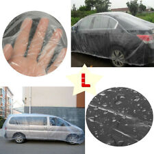 Universal Clear Plastic Temporary Disposable Car Cover Rain Dust Protection L