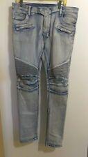 Balmain Biker Jeans Distressed Size  Mens Great Condition 100% Authentic @13