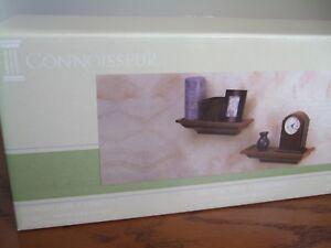 Connoisseur - Decorative Walnut Ledges / Shelf  2 pack, New