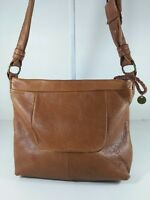 the Sak cow leather brown medium crossbody bag hipster shoulder purse