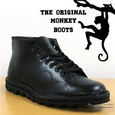 Grafters The Original Monkey Boots Men's Women's & Kids Retro 60's Black Shoes