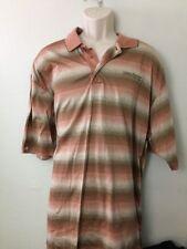 Rio Secco Golf Polo Orange Stripe Shirt Mens XL EUC Nevada