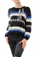 For Love & Lemons Women's Crosby Fringe Sweater Blue RRP $252 BCF68