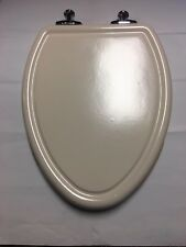From American Standard: Traditional Toilet Seat, Chrome Hinges, Linen 420013.222