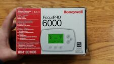 TH6110D1005 Honeywell Focus Pro 6000 Programmable Thermostat, White