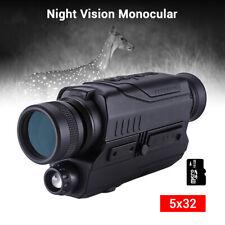 BOBLOV 16GB Night Vision Monocular Digital 5x8 Optics Scope 150Yards in Darkness