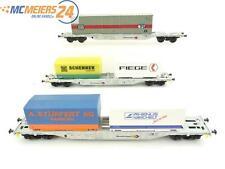 E50D669 Klein Modellbahn M+D H0 Sonderserie 005 Containertragwagen 3-tlg. DB