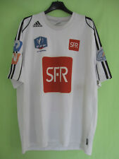 470fd51d7e85 Maillot porté Adidas Coupe de France Blanc Entrainement SFR Jersey vintage  - XL
