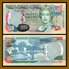 Bermuda 20 Dollars, 2000 P-53a (4 Digit Serial # 001400) D/1 QE II (AU)