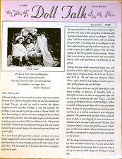 a little DOLL TALK from Byron Magazine ~ November 1988