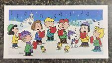 Hallmark Peanuts Gang Caroling 18 Boxed Christmas Cards Charlie Brown Snoopy New