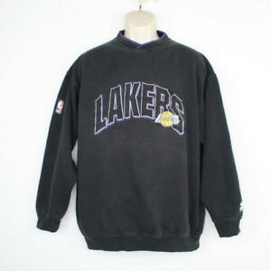 Vintage Los Angeles Lakers Starter Pullover Sweater Men's Large Embroidered
