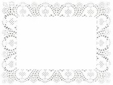 18 Table Cake Paper Doilies Dinner Party Wedding Plates Rectangular Catering