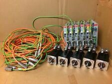 Set Beckhoff Ax2523 B750 Ax2513 Servo Drive 5 Motors Controller Cables Am3042