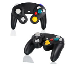 2X Wired Controller For Nintendo GameCube GC&Wii Black Console Joypad Gamepad US
