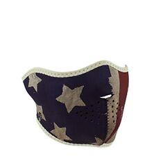 Faded Distressed USA America Flag Patriot Neoprene Half Face Mask Biker Black