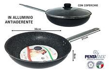 PADELLA SALTAPASTA CM.36 CON COPERCHIO VETRO LINEA ROCK alta, capacità, cuocere,