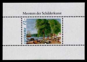 Surinam 586a MNH Illustrations, Fish market, Ship, Horses, Trees