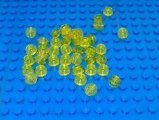 NEW LEGO BRICKS - 100 x TrYellow TRANSLUCENT YELLOW 1x1 ROUND PLATE 4073 - BULK