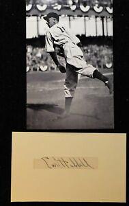 Vintage 1935 Carl Hubbell New York Giants Signed Cut HOF D 1988 PSA DNA