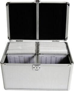 MediaRange DJ Case Koffer Silber für 200 CD / DVD Aufbewahrungskoffer