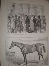 Horse racing Verneuil winner Ascot Gold Cup 1878 print ref Y1