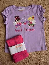 NWT Gymboree Fairy Best Friends Short Sleeve Shirt & Pink Leggings size 2T