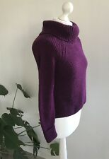M&S 🌺 Mulberry Roll Neck Jumper Size 8