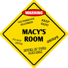 "*Aluminum* Macy's Room Kids Room Door 12""x12""  Metal Novelty Sign"
