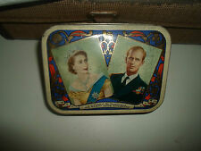 Vintage Toffee Tin Waller+Hartley Blackpool Queen Elizabeth II Coronation 1953