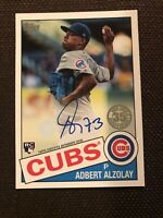 2020 Topps Series 2 Adbert Alzolay 1985 Rookie On Card Auto CHICAGO CUBS RC!