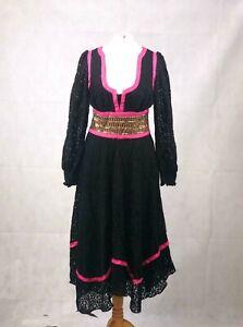 Coco Fennell Black Gypsy Dress UK 10 TD017 NN 17