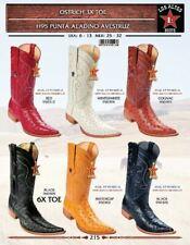 Los Altos Men's Genuine Ostrich 3X Toe Western Cowboy Boots