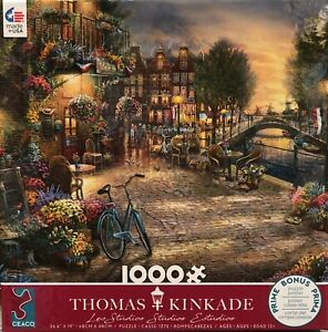 Thomas Kinkade Studios Amsterdam Cafe Ceaco 1000 Piece Puzzle
