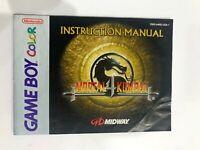 Mortal Kombat 4 Original Nintendo Gameboy Color Instruction MANUAL ONLY Booklet