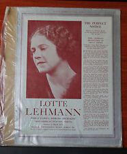 Vintage advertising- Lotte Lehmann soprano - 1934 tour -Musical America magazine