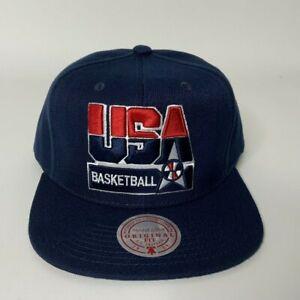 Mitchell & Ness USA Basketball Dream Team Mens Adjustable Navy Snapback Hat NEW