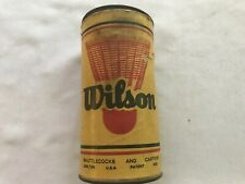 1954 Wilson Trophy Plastic Shuttlecocks Vintage Tin With 2 Pieces