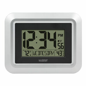La Crosse Technology 513-1918s-int Atomic Digital Wall Clock With Indoor/outdoor
