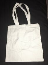 6 Cotton Canvas Reusable Shopping Grocery Tote Hand Bags