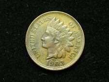 SUMMER SALE!! XF 1903 INDIAN HEAD CENT PENNY w/ DIAMONDS & FULL LIBERTY #50x