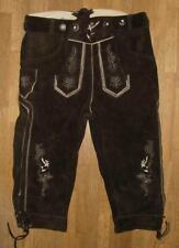 zünftige Herren- Trachten- Kniebund- LEDERHOSE / Hose in schwarz in Gr. 46