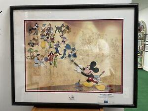 DISNEY MURAL OF MEMORIES Ltd Ed. 3000 Sericel Framed w/COA Mickey Brer Rabbit