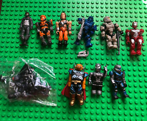 Lot 7 Mega Bloks Construx Halo & other Building Figure Iron Man Venom Potc