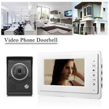 """Videocitofono Fotografa Kit Telecamera Video Citofono Campanello Monitor 7"""" Casa"""