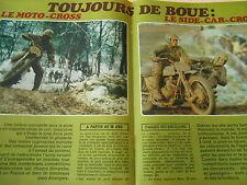 Le Moto Cross Le Side Car Cross Doc Clipping 1977