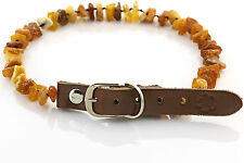 "Raw Baltic Amber Anti-Tick Anti Flea Dog Collar Necklace 36-41cm / 14.1-16.1"" 20"