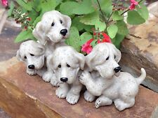 Quarry Critters 'Puzzled' Resin Puppies Second Nature Design 2001