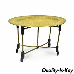 Brass Tray Coffee Table In Mid Century Modernism Antiques For Sale Ebay