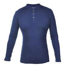 Huntsman Henley Men 100% Merino Wool Jersey Base Layer Long Sleeve Midweight Top